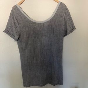 Lululemon Gray Sheer Top
